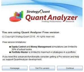 QuantAnalyzer起動画面