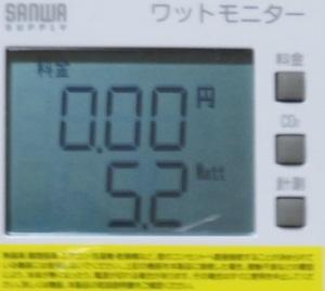 MT4実行時の消費電力